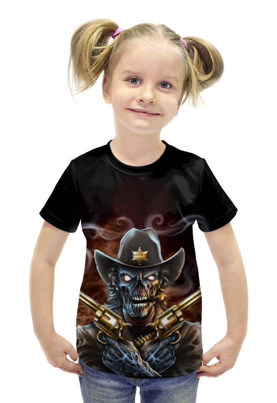 Футболка с полной запечаткой для девочек Printio Скелет футболка с полной запечаткой для девочек printio пртигр arsb