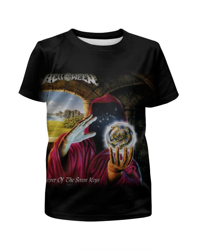 Футболка с полной запечаткой для девочек Printio Helloween ( rock band ) helloween madrid