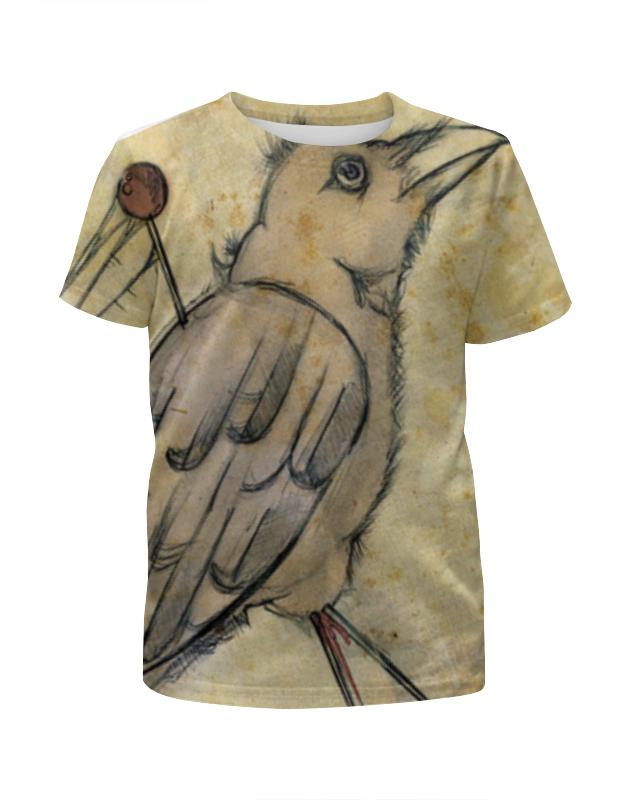 Футболка с полной запечаткой для девочек Printio Птица вязачъ футболка с полной запечаткой для девочек printio пртигр arsb