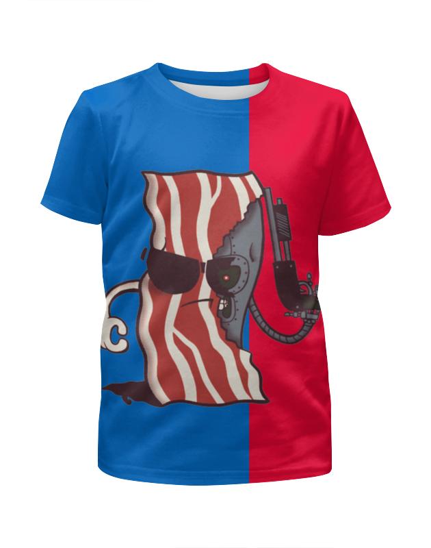 Футболка с полной запечаткой для девочек Printio Американская темка футболка с полной запечаткой для девочек printio пртигр arsb