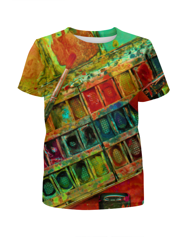 Футболка с полной запечаткой для девочек Printio акварельные краски футболка с полной запечаткой для девочек printio жидкие краски