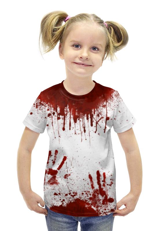 Футболка с полной запечаткой для девочек Printio Кровь футболка с полной запечаткой для девочек printio пртигр arsb