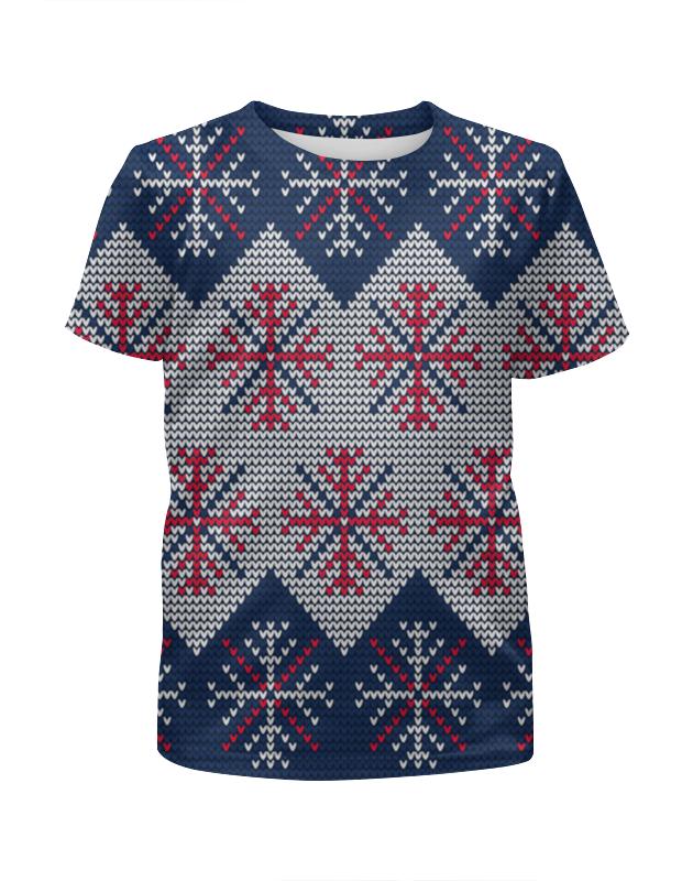 Футболка с полной запечаткой для девочек Printio Цветные снежинки футболка с полной запечаткой для девочек printio пртигр arsb
