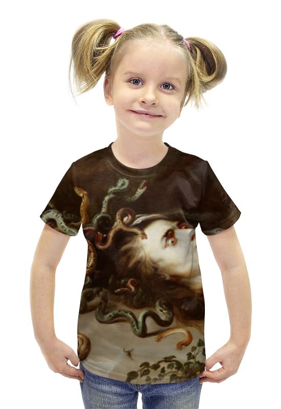 Футболка с полной запечаткой для девочек Printio Голова медузы (рубенс) футболка с полной запечаткой для девочек printio картина