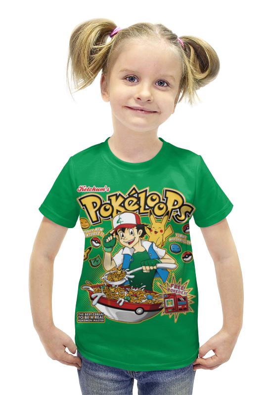 Футболка с полной запечаткой для девочек Printio Pokeloops футболка с полной запечаткой для девочек printio spawn