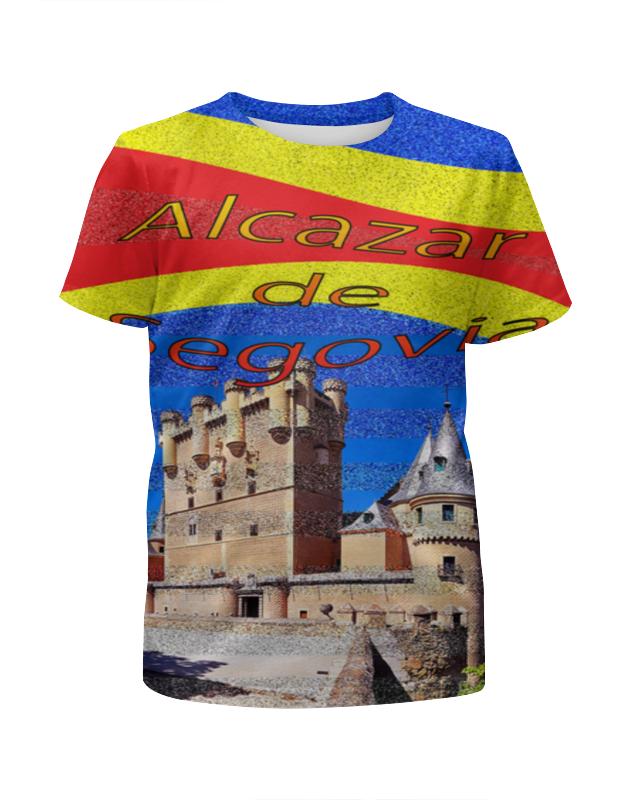 Футболка с полной запечаткой для девочек Printio Замки испании. замок сеговия.