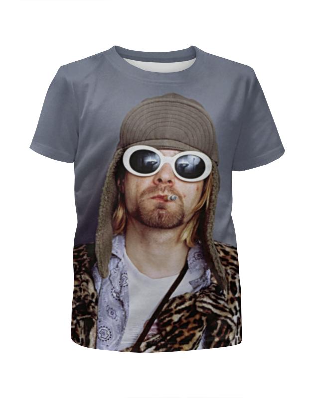 Футболка с полной запечаткой для девочек Printio Kurt cobain full print футболка print bar shawn crahan