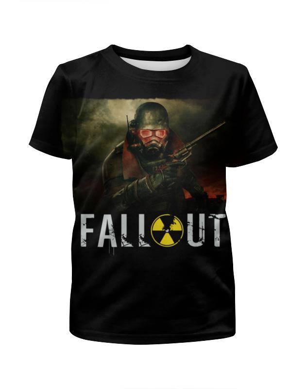 Футболка с полной запечаткой для девочек Printio Fallout game футболка классическая printio fallout фэллаут