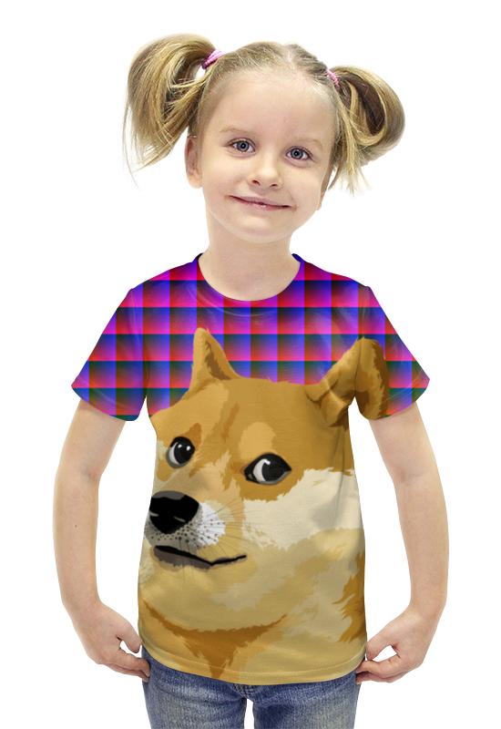 Футболка с полной запечаткой для девочек Printio Doge doge футболка с полной запечаткой для девочек printio пртигр arsb