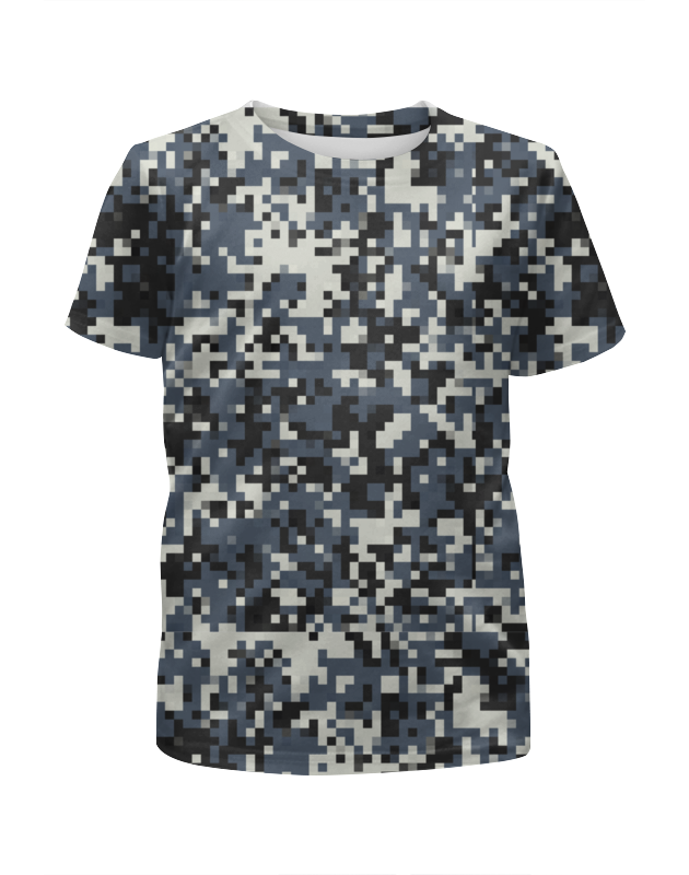 Футболка с полной запечаткой для девочек Printio Пиксель камуфляж футболка с полной запечаткой для девочек printio камуфляж