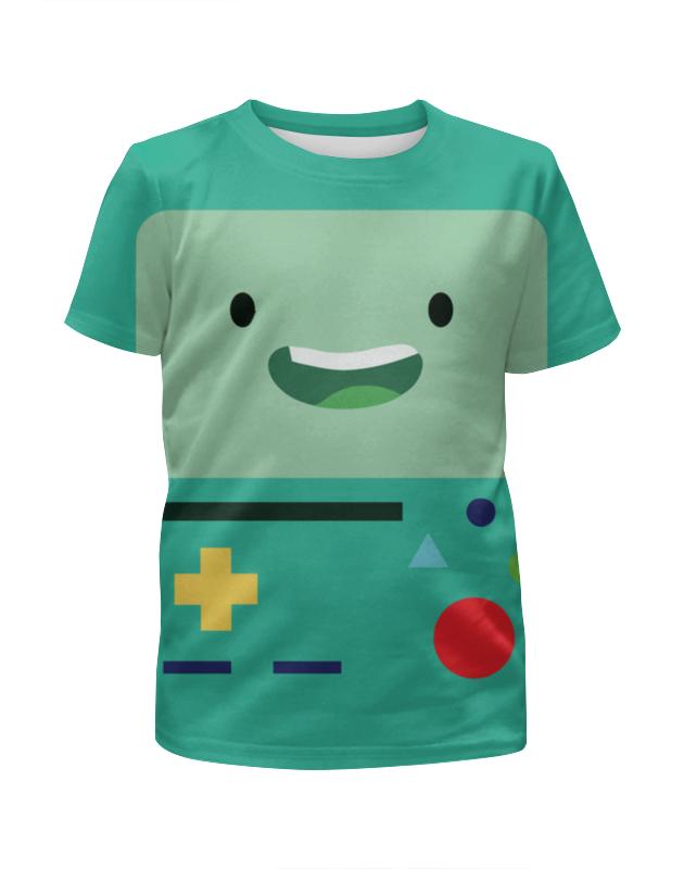 Футболка с полной запечаткой для девочек Printio Adventure time bmo / время приключений бимо цены онлайн