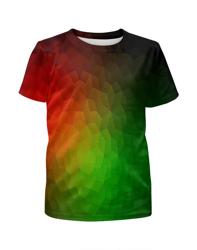 Футболка с полной запечаткой для девочек Printio Цветная абстракция футболка с полной запечаткой для девочек printio цветная клетка