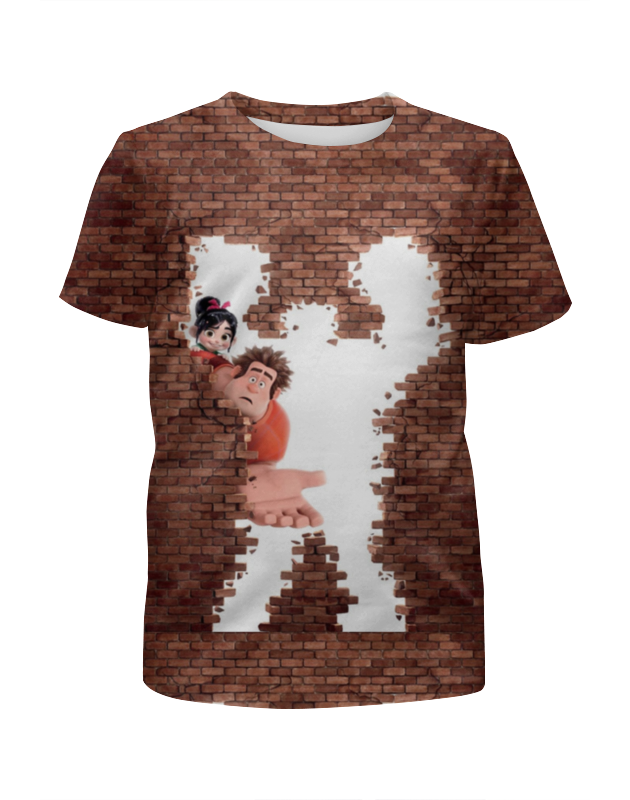 Футболка с полной запечаткой для девочек Printio Ральф футболка с полной запечаткой для девочек printio дом милый дом
