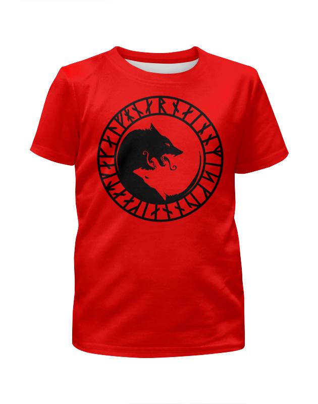Футболка с полной запечаткой для девочек Printio Руна викингов футболка print bar руна любви