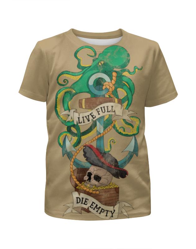 Футболка с полной запечаткой для девочек Printio Осьминог футболка с полной запечаткой для девочек printio octopus осьминог