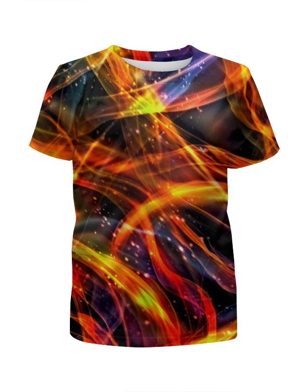 Футболка с полной запечаткой для девочек Printio Пламя футболка с полной запечаткой для девочек printio лед и пламя