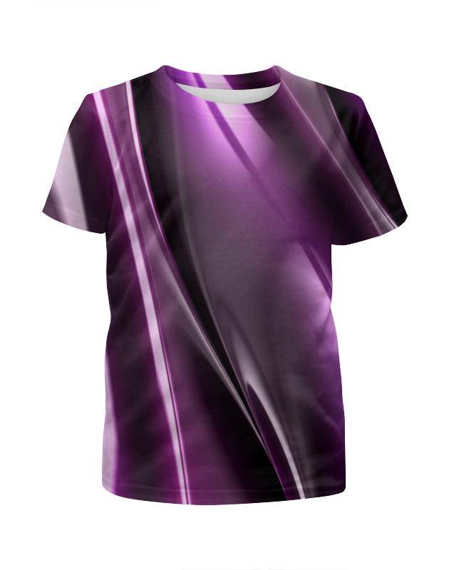 Футболка с полной запечаткой для девочек Printio Фиолетовые линии