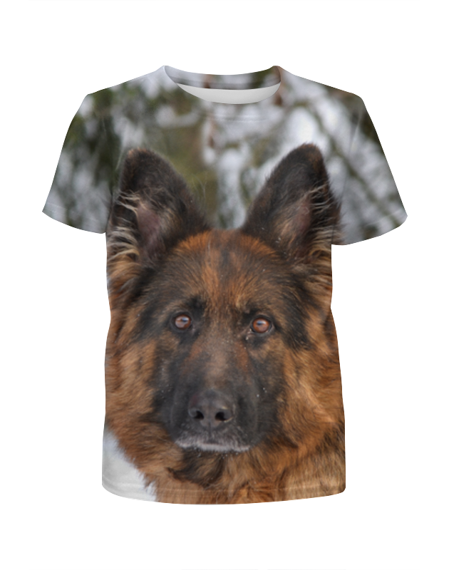Футболка с полной запечаткой для девочек Printio Зимний пес футболка с полной запечаткой для девочек printio селфи пес