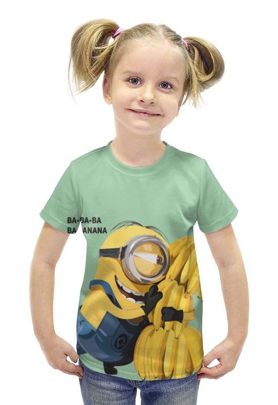 Футболка с полной запечаткой для девочек Printio Миньон футболка с полной запечаткой для девочек printio пртигр arsb