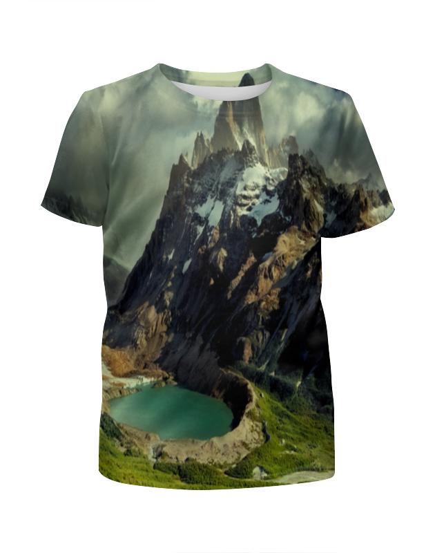 Футболка с полной запечаткой для девочек Printio Озеро футболка с полной запечаткой женская printio подземное озеро