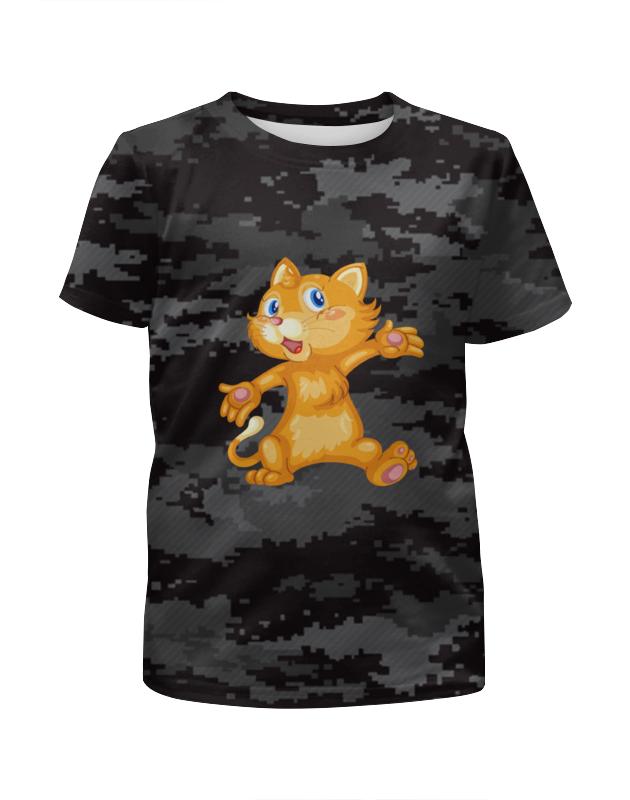 Футболка с полной запечаткой для девочек Printio Рыжий кот футболка с полной запечаткой для девочек printio пес и кот
