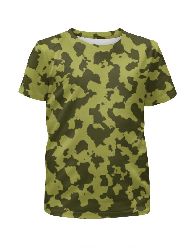 Футболка с полной запечаткой для девочек Printio Зелёный камуфляж футболка с полной запечаткой для девочек printio камуфляж