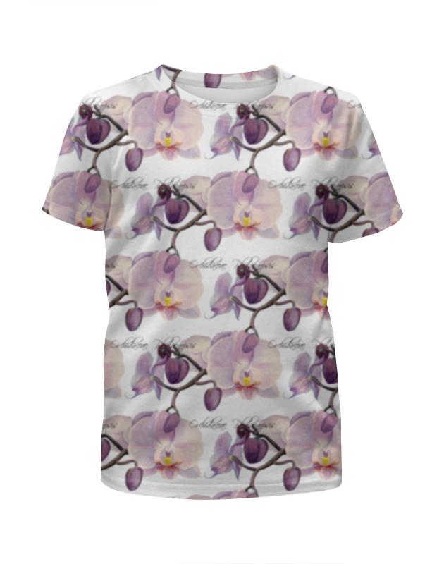 Футболка с полной запечаткой для девочек Printio Ветка орхидеи футболка с полной запечаткой для мальчиков printio орхидеи высушеные phalaenopsis