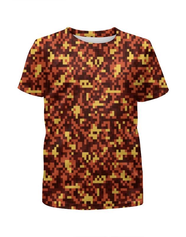 Футболка с полной запечаткой для девочек Printio Текстура пикселей футболка с полной запечаткой для девочек printio пртигр arsb