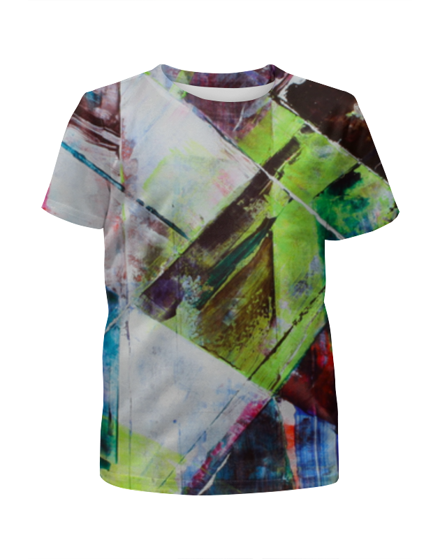 Футболка с полной запечаткой для девочек Printio Акварельная геометрия футболка с полной запечаткой для мальчиков printio акварельная геометрия