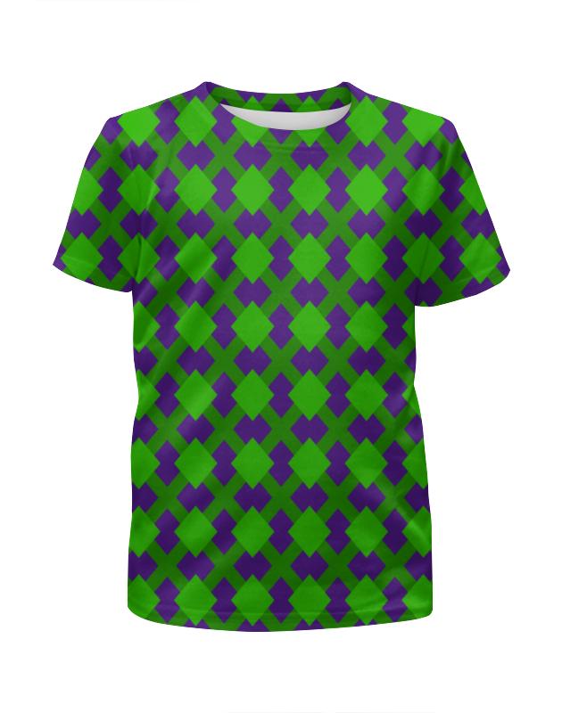 Футболка с полной запечаткой для девочек Printio Зеленая графика футболка с полной запечаткой для девочек printio пртигр arsb
