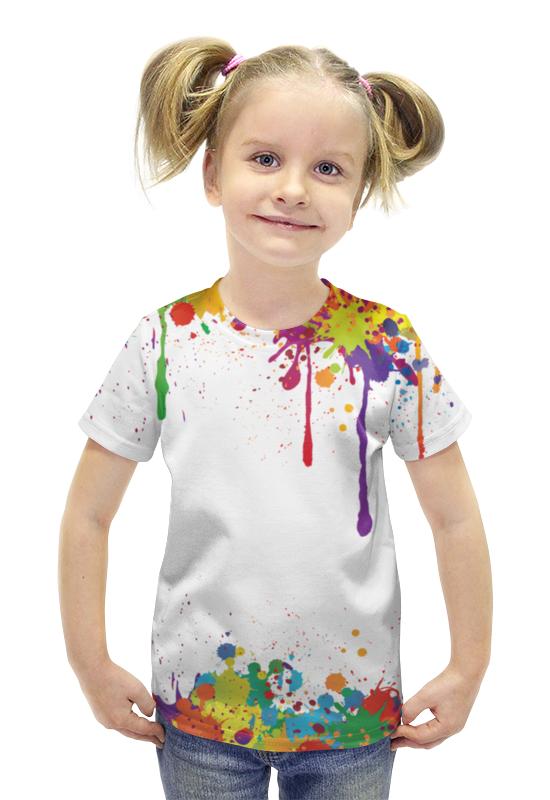 Футболка с полной запечаткой для девочек Printio Краски футболка с полной запечаткой для девочек printio пртигр arsb