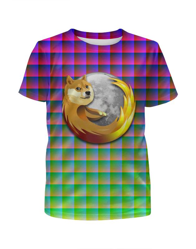 Футболка с полной запечаткой для девочек Printio Doge firefox футболка классическая printio doge firefox