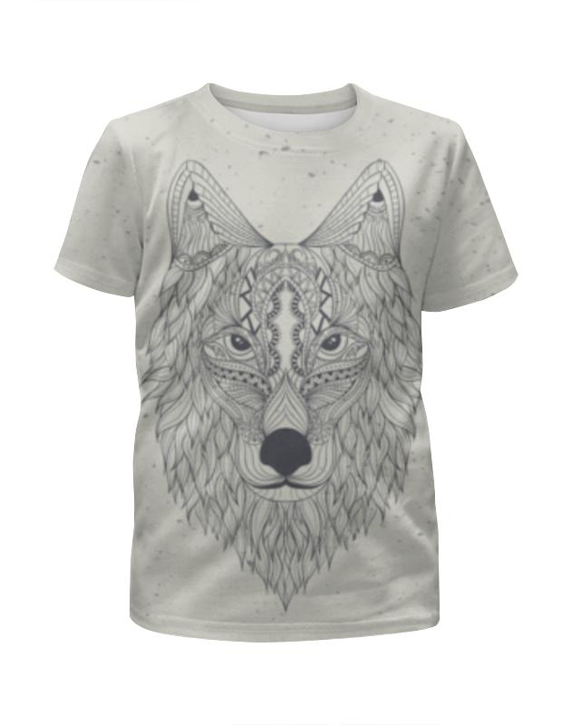 Футболка с полной запечаткой для девочек Printio Волк-шаман футболка с полной запечаткой для мальчиков printio волк шаман