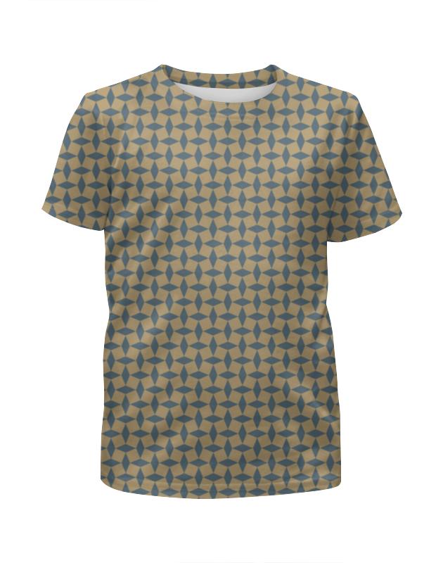 Футболка с полной запечаткой для девочек Printio Геометрический орнамент футболка с полной запечаткой для мальчиков printio геометрический орнамент