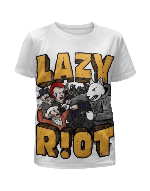 Футболка с полной запечаткой для девочек Printio Lazy riot quiet riot quiet riot metal health