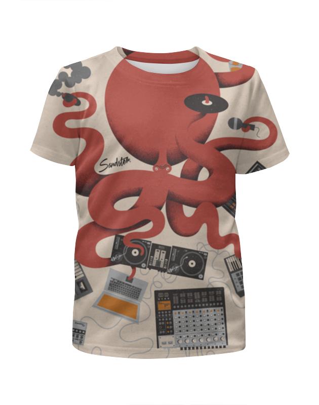 Футболка с полной запечаткой для девочек Printio Dj octopus футболка с полной запечаткой для мальчиков printio octopus осьминог