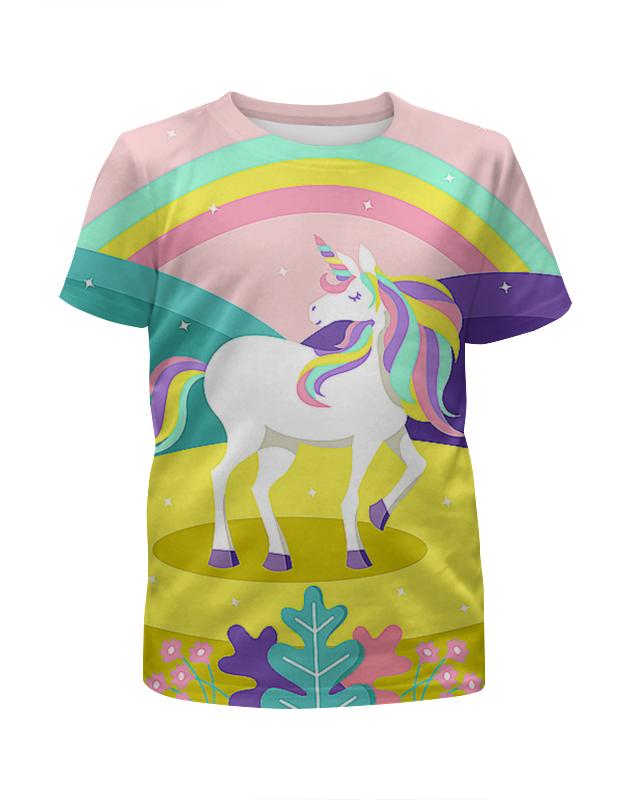 Футболка с полной запечаткой для девочек Printio Единорог футболка с полной запечаткой для девочек printio детство