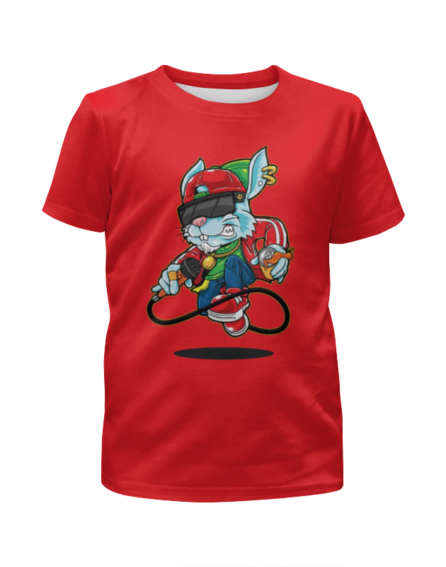Футболка с полной запечаткой для девочек Printio Рэпер футболка с полной запечаткой для девочек printio joker
