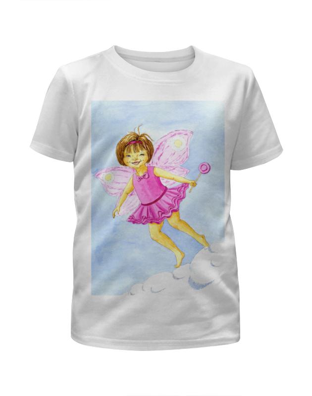 Футболка с полной запечаткой для девочек Printio Розовая феечка в облаках кукла funville brilliance fair с диадемой и волшебной палочкой