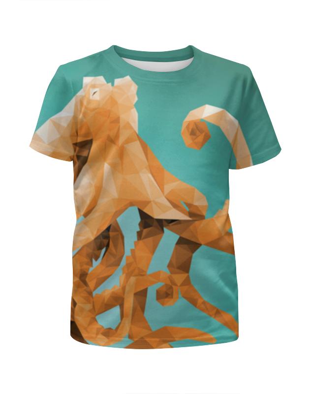 Футболка с полной запечаткой для девочек Printio Octopus футболка с полной запечаткой для мальчиков printio octopus осьминог
