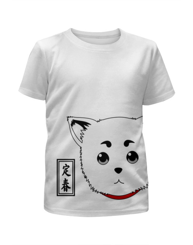 Футболка с полной запечаткой для девочек Printio Гинтама. садахару футболка с полной запечаткой для девочек printio пртигр arsb