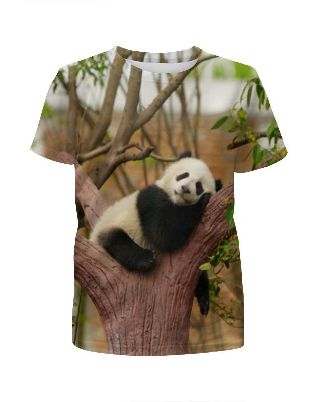 Футболка с полной запечаткой для девочек Printio Панда футболка с полной запечаткой для девочек printio панда