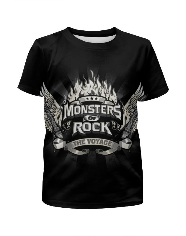 Футболка с полной запечаткой для девочек Printio Monsters of rock футболка для беременных printio mozart l opera rock
