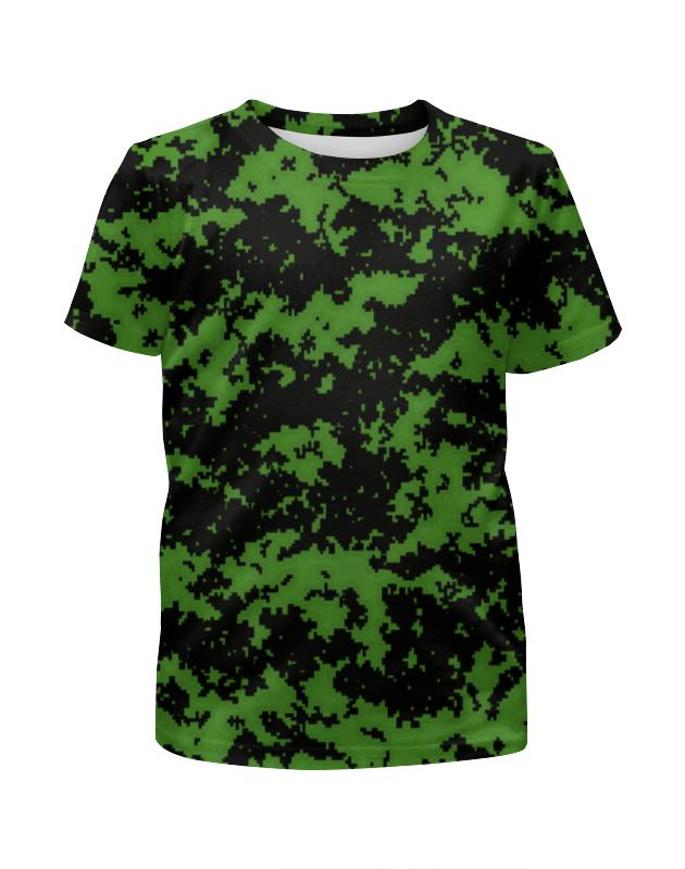 Футболка с полной запечаткой для девочек Printio Зеленый камуфляж футболка с полной запечаткой для девочек printio пртигр arsb