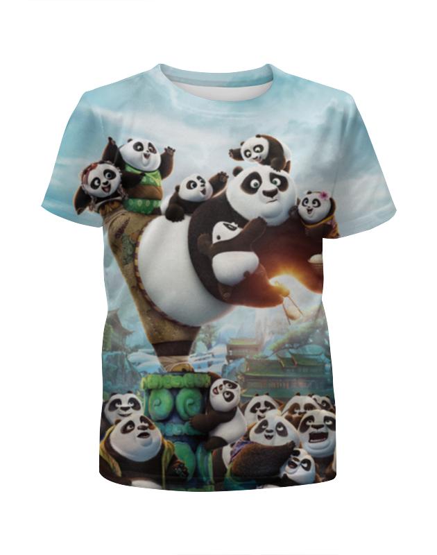 цена на Футболка с полной запечаткой для девочек Printio Кунг-фу панда
