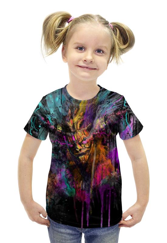 Футболка с полной запечаткой для девочек Printio Дьявол футболка с полной запечаткой для девочек printio пртигр arsb
