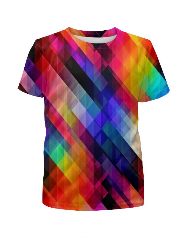 Фото - Футболка с полной запечаткой для девочек Printio Цветные узоры футболка с полной запечаткой для девочек printio белые узоры