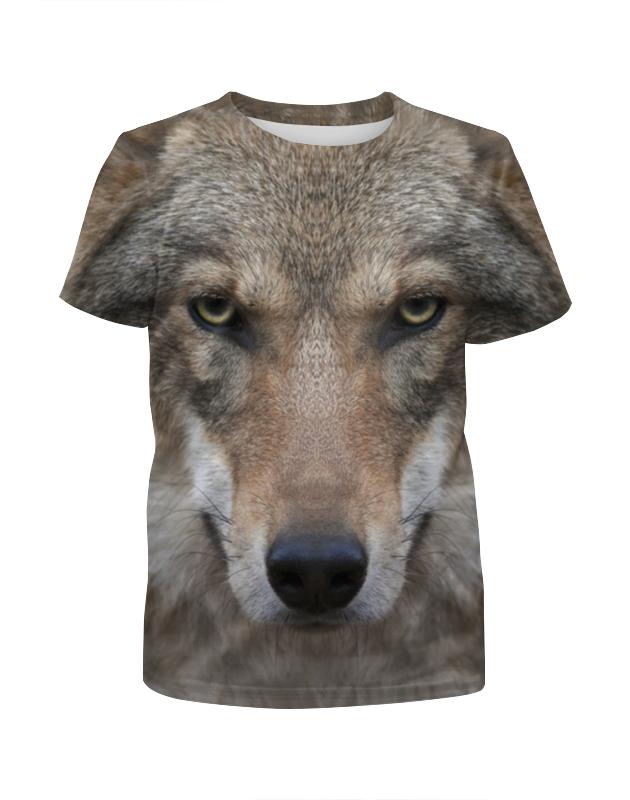 Футболка с полной запечаткой для девочек Printio Wolf футболка print bar wolf motivation