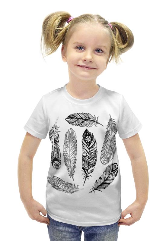Футболка с полной запечаткой для девочек Printio Перья футболка с полной запечаткой для девочек printio пртигр arsb