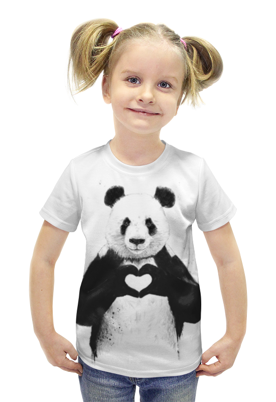 Футболка с полной запечаткой для девочек Printio Панда футболка с полной запечаткой для девочек printio рианна